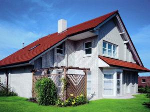 Дом из белого силикатного кирпича