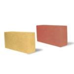 Красный и жёлтый силикатный кирпич