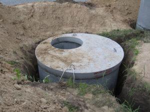 Крышка и железобетонные канализационные кольца